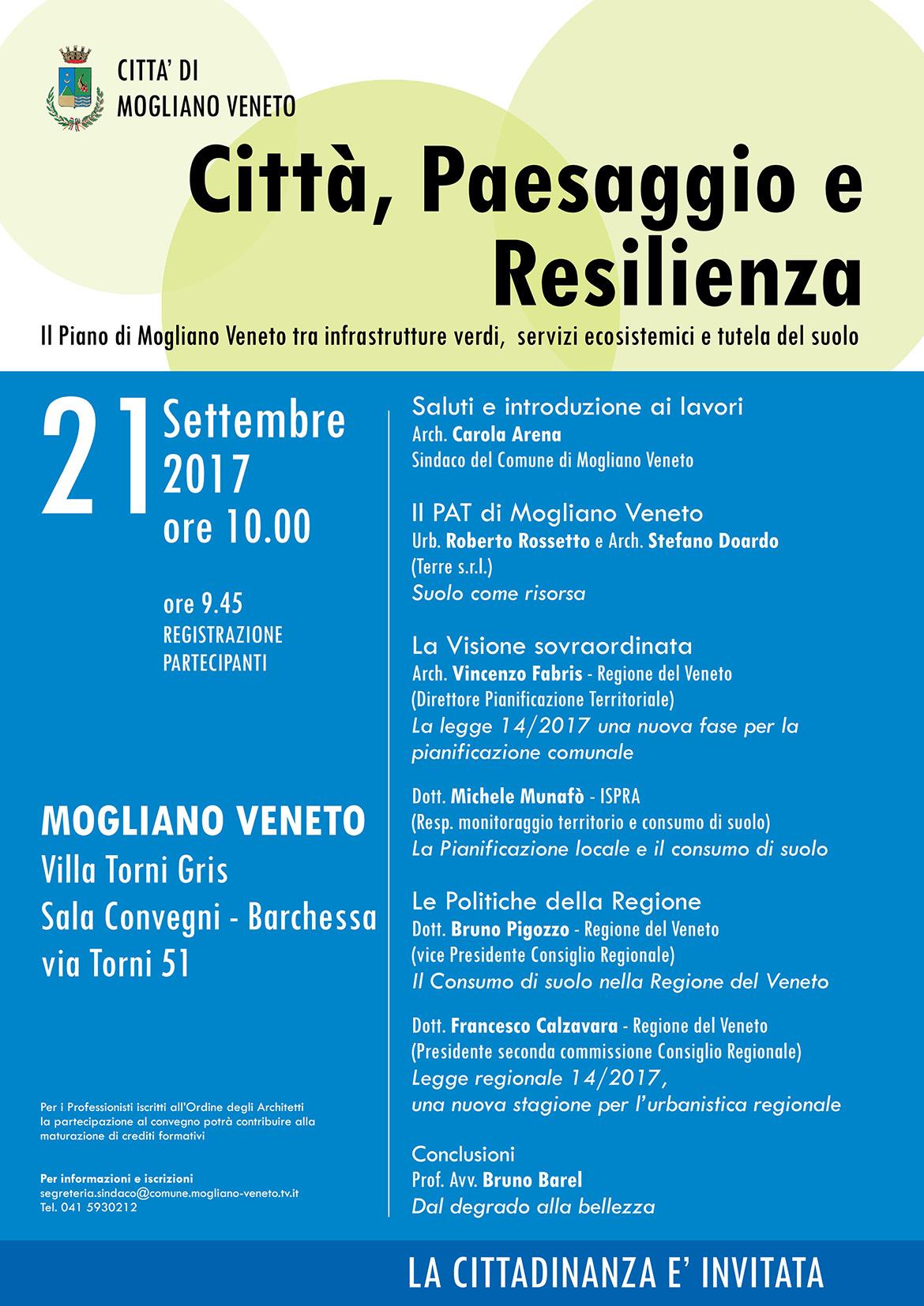 Città Paesaggio Resilienza